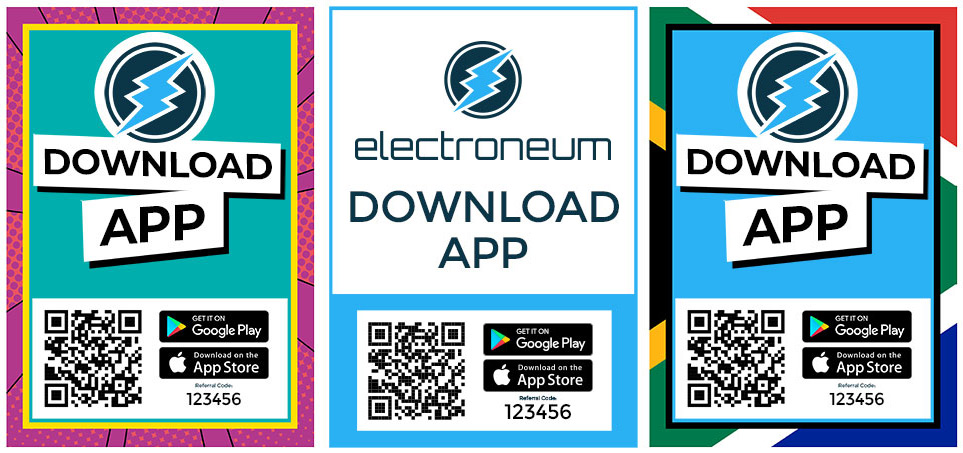 Download App Promotion Sign for Electroeum/ETN