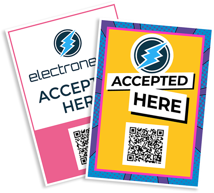 Electroneum Accepted Here A4 Signs